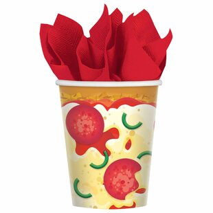 Pizza Party Paper Disposable Every Day Cup (Set of 48)