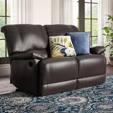 Edgar Reclining Pillow Top Arms Loveseat by Andover Mills™