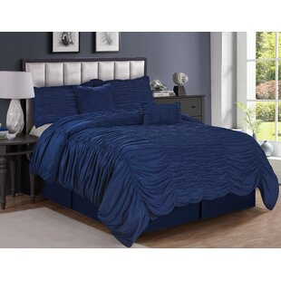 Rosdorf Park Leonide Textured 5 Piece Comforter Set