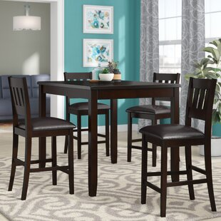 Barney 5 Piece Counter Height Pub Table Set by Latitude Run