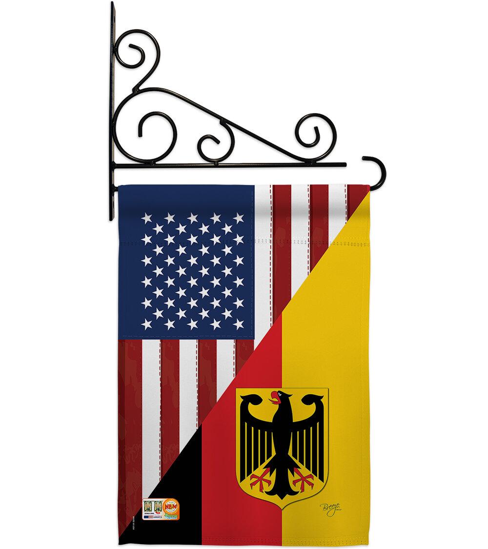 Breeze Decor Us German Friendship 2 Sided Polyester 19 X 13 In Flag Set Wayfair