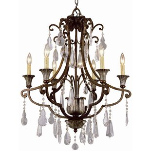 Candle Style Flair 6-Light Candle Style Chandelier By TransGlobe Lighting