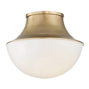 Check Prices Collier 1-Light LED Flush Mount By Latitude Run