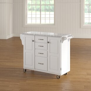 Legler-a-Cart Kitchen Island with Granite Top Millwood Pines