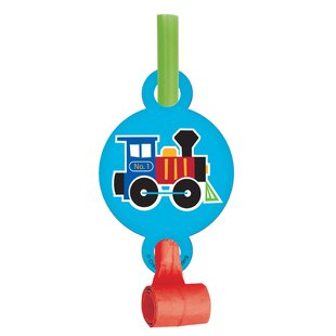 Train Plastic/Paper Disposable Party Favor Set (Set of 24)