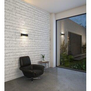 Latitude Run Billips Low Profile 1-Light Outdoor LED Flush Mount