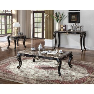 Comparison Marble 3 Piece Coffee Table Set By BestMasterFurniture