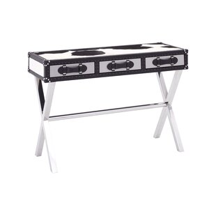 Johnathan 3 Drawer MDF/Stainless Steel Console Table By Williston Forge