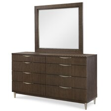 Soho by Rachael Ray Home 8 Drawer Double Dresser with Mirror by Rachael Ray Home by Legacy Classic