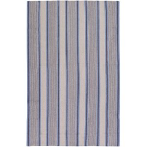 Farmhouse Stripes Navy/Blue Area Rug