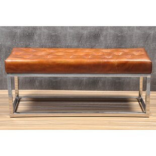 Merveilleux Adelinda Metal And Leather Bench