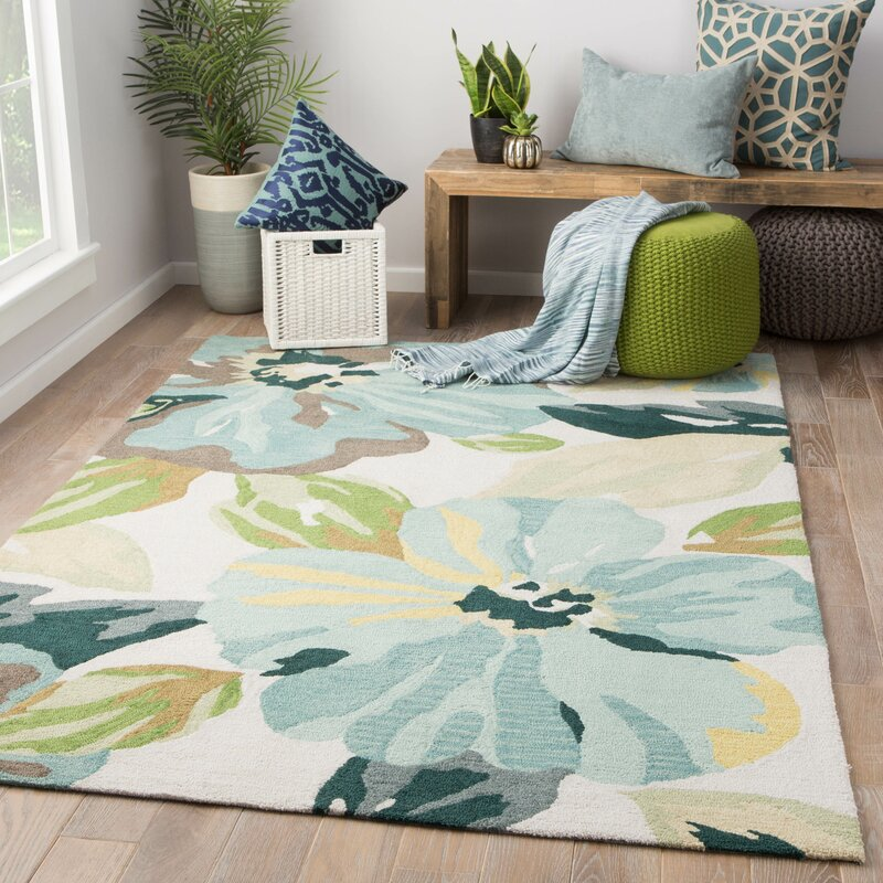 Isidore Hand Tufted Blue/Green Area Rug & Reviews