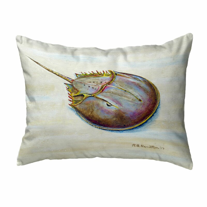 Rosecliff Heights Havertown Horseshoe Crab No Cord Outdoor Lumbar Pillow Wayfair