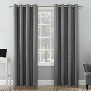 Duran Insulated Max Blackout Thermal Grommet Single Curtain Panel by Sun Zero