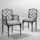 Dixon Slat Back Arm Chair in Black by Eichholtz