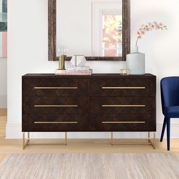 Corrigan Studio Stallings 6 Drawer Double Dresser Wayfair