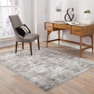 Inexpensive Helmer Lily White/Dove Area Rug By Wrought Studio