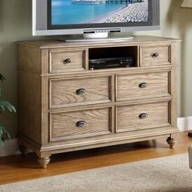 Lark Manor Quevillon 6 Drawer Wood Media Chest