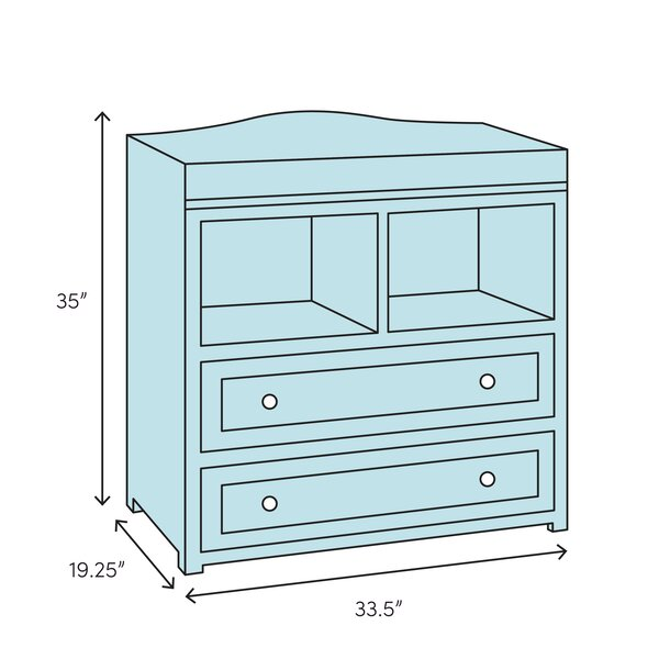 Changing Table Chest of Drawers Sturdy Solid Wood Pine Convertible Top New