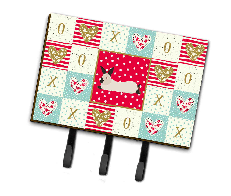 The Holiday Aisle Franca California Rabbit Love Wall Key Organizer With Key Hooks Wayfair
