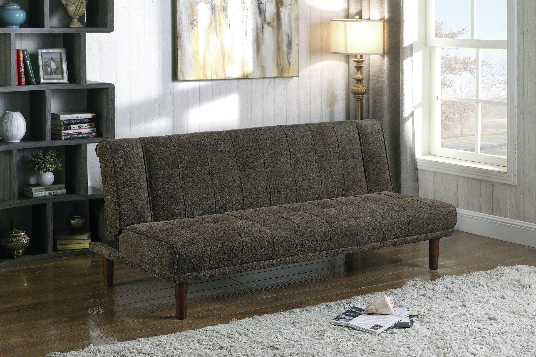 Latitude Run Muspell Twin Or Smaller Tufted Back Convertible Sofa Wayfair