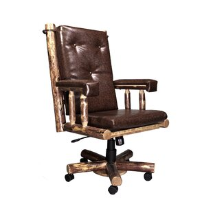 Loon Peak Tungsten High-Back Leather Executive Chair