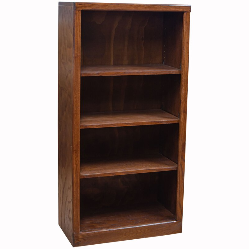 "Loon Peak Metoyer 48"" H x 24"" W Solid Wood Standard Bookcase 