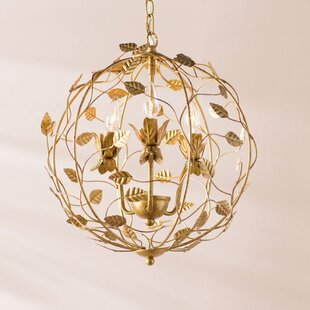 Astoria Grand Watsontown Cage 3-Light Candle Style Chandelier