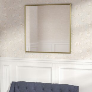 Square Gleaming Gold Wall Mirror by Darby Home Co