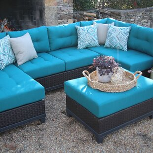 Weirton 4 Piece Sectional Seating Group with Cushions by Three Posts