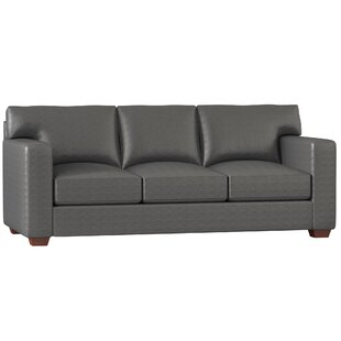 Square Arm Leather Sofas