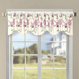 Sun Flower Embroidery 60 Curtain Valance by Serenta