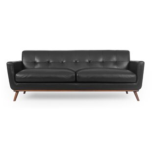 Luther Mid-Century Leather Sofa
