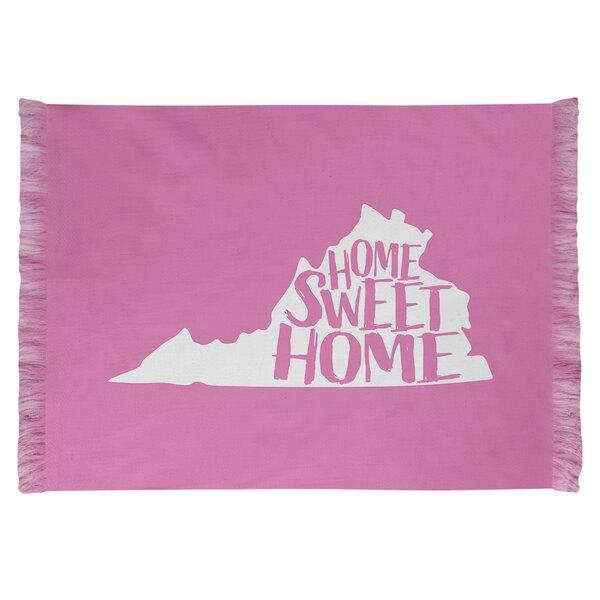 East Urban Home Home Sweet Virginia Pink Area Rug Wayfair