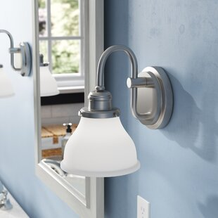 Best Choices Chesterton 1-Light Armed Sconce By Three Posts