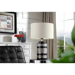 Hewish Chevron Ceramic 26.5 Table Lamp