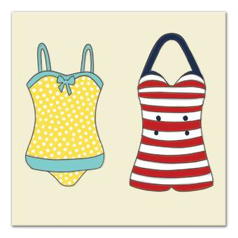 126bed84a0 Compare Similar Items. Current Item. 'Vintage Bathing Suits' Graphic Art on  Canvas. '