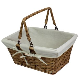 Wicker Basket With Handles By Brambly Cottage