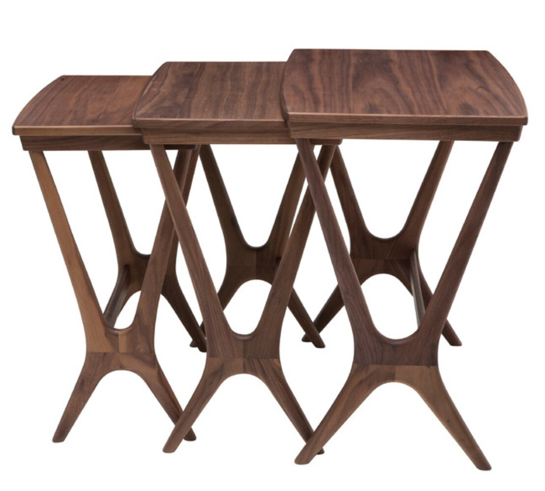 Medium Wood Nesting Tables End Side Tables You Ll Love In 2021 Wayfair
