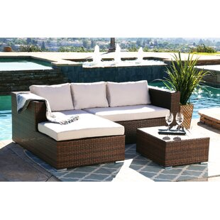 Banker 3 Piece Sectional Set with Cushions