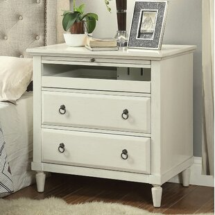 Leamon 2 Drawer Nightstand by Three Posts