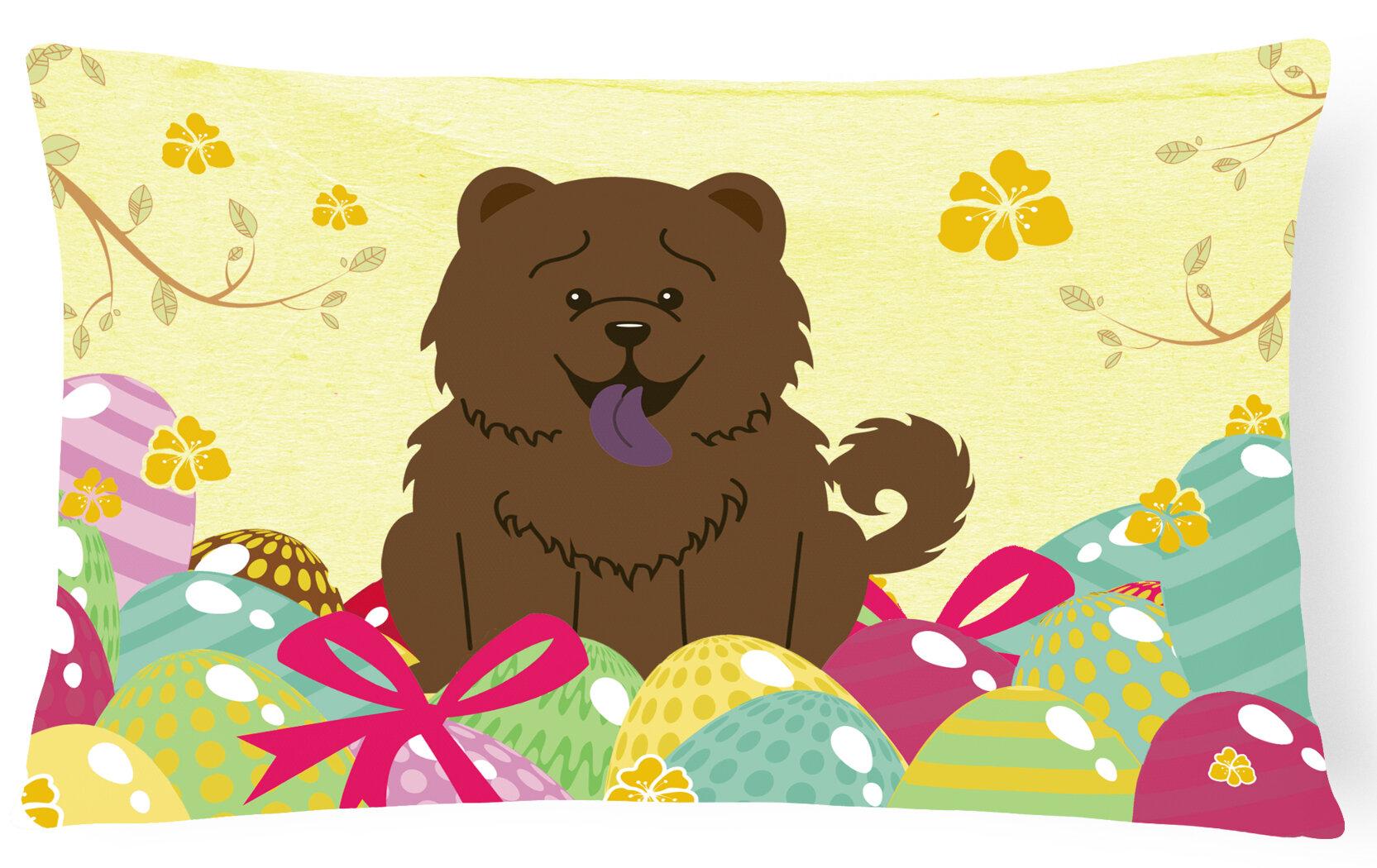The Holiday Aisle Easter Eggs Rectangular Chow Chow Lumbar Pillow Wayfair