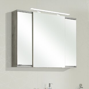 Fresh Line Grey 100 X 75cm Mirrored Bathroom Cabinet By Quickset