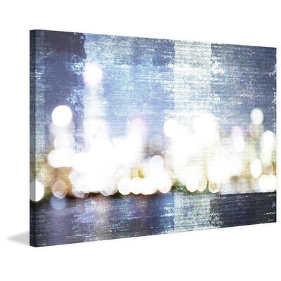 Ebern Designs 'City Scape' by Parvez Taj Painting Print on Wrapped Canvas Size: 12 H x 18 W