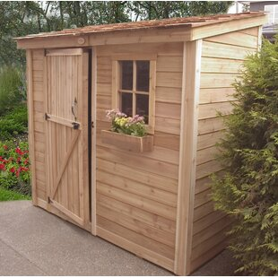 D Wooden Lean To Tool Shed
