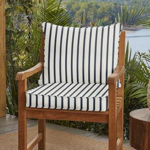 Whitten Stripe Indoor/Outdoor Sunbrella Lounge Chair Cushion