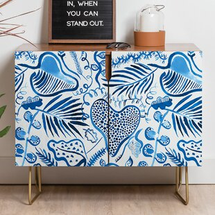 Ninola Tropical Forest Leaves Sideboard by East Urban Home