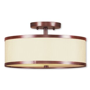 Cana 2-Light Semi Flush Mount by Latitude Run