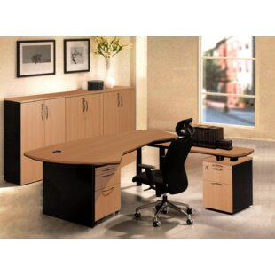 Executive Management 6 Piece L-Shaped Desk Office Suite
