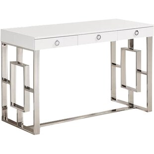 Modern Contemporary White Lacquer Desk Drawers Allmodern